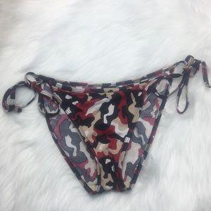 ⭐️ 4/$25 Red Camouflage Strung Bikini Bottom